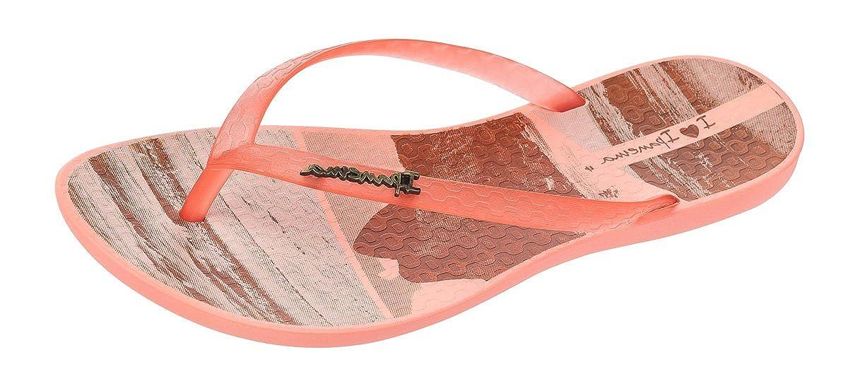 Ipanema Wave Tropical Frauen Flip Flops Sandalen Rosa Gold
