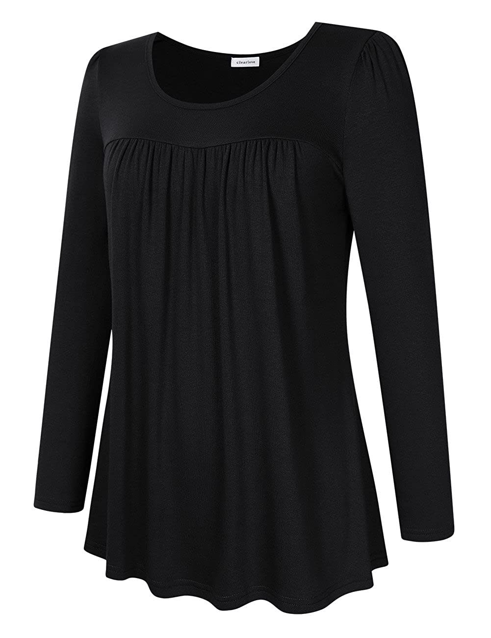 a216149cdbf Clearlove Women s Plus Size Tops Shirts Blouses (L-5XL)  Amazon.co.uk   Clothing