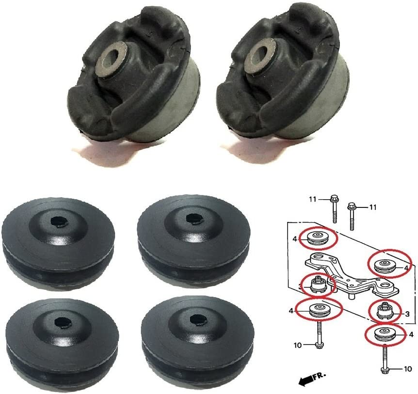 NISTO Rear Differential Arm Mounting Bushing Support Rubber For 1998-05 Honda HR-V 2002-08 Honda Fit Jazz