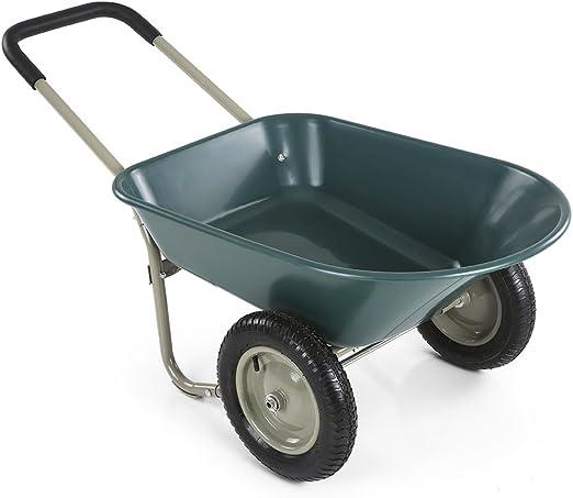 ikayaa dual-wheel casa patio Rover carretilla jardín carro almacén utilidad: Amazon.es: Jardín