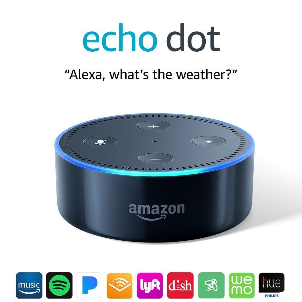 echo dot 2nd generation smart speaker with alexa. Black Bedroom Furniture Sets. Home Design Ideas
