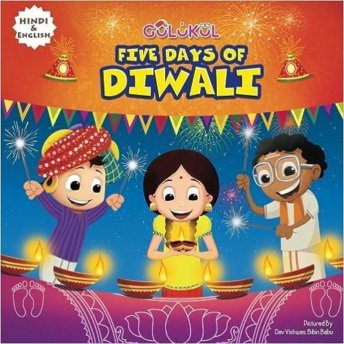 Five Days Of Diwali English Hindi Bilingual book for kids