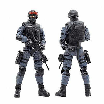 1/18 JOYTOY Soldier Action Figures CF Swat Anime Figure Cross Fire Game Collection Action Figure Military Model Toys: Toys & Games [5Bkhe1002935]