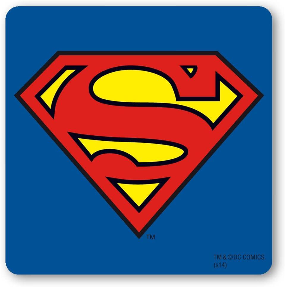 Logo Logoshirt Posavasos Superman Logotipo Superh/éroe Dise/ño Original con Licencia Superman Coaster DC Comics