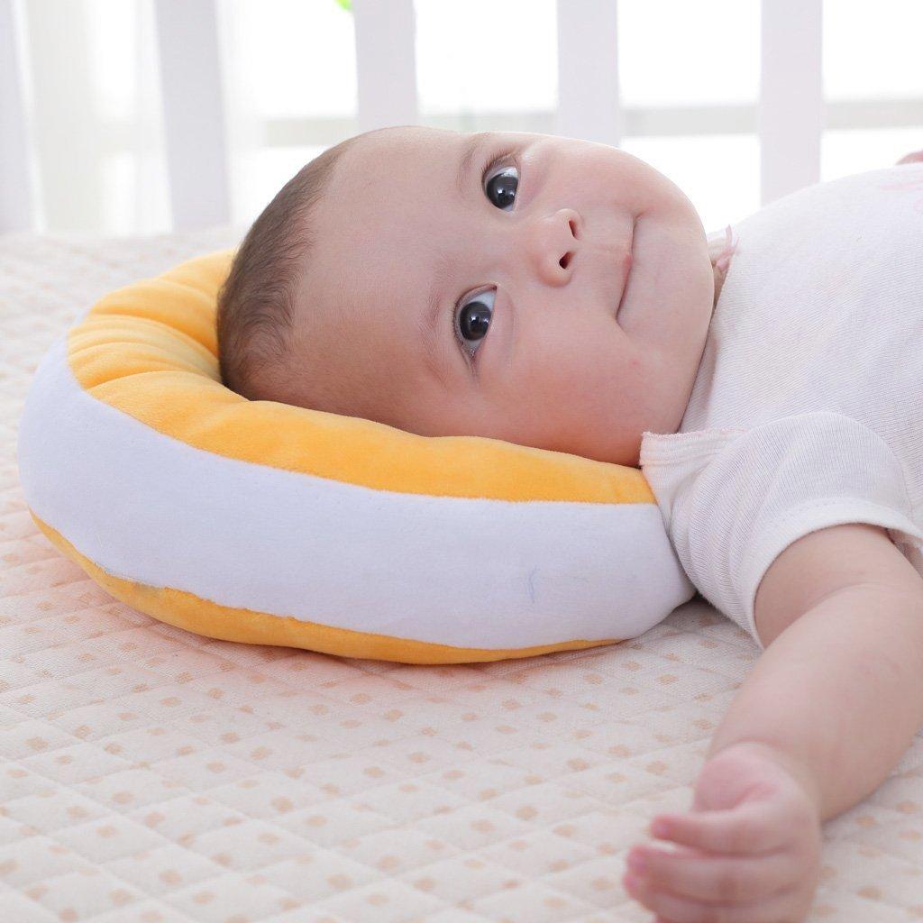 /syndrome de la t/ête plate m/émoire Mawata Ultra doux oreiller pour plagioc/éphalie Coussin plagioc/éphalie pour ton bebe RECIEN n/é orange /B/éb/é Oreiller Anti/ ZEEUPAI/