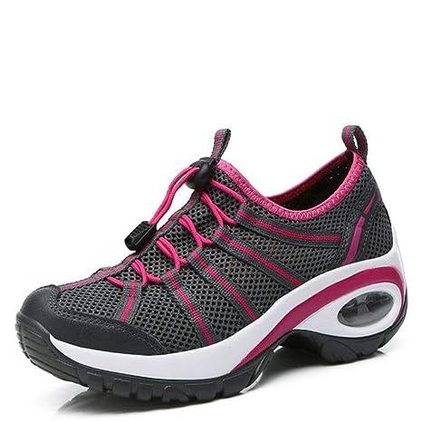 4c615cd4454f8 Amazon.com: DETAIWIN Women Wedge Sneakers Shoes Band Woman Casual ...