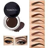VERONNI Eyebrow Cream,Brow Color Long Lasting Waterproof Eyebrow Pomade Gel,Eyebrows Enhancers Smooth Eye Brow Makeup 0…