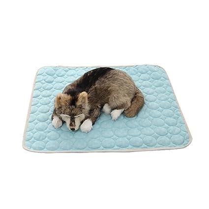 PAWACA mascotas refrigeración estera de cojín de cama Mantenga ...