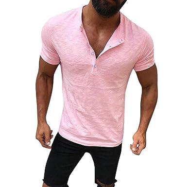 Bitriddis Men Shirt - Camiseta - para Hombre Rosa Rosa M: Amazon ...