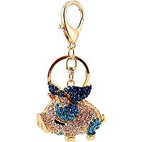 SOIMISSLeuke Sleutelhanger Decoraties Fashion Pig Keychain Sparkling Animal Keyring Alloy Crystal Rhinestones Jewelry…