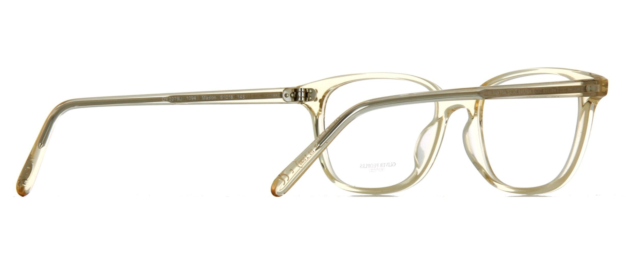 9daebc1ee1 Oliver Peoples Rx Eyeglasses Frames Maslon 5279U 1094 53x18 Light Clear  Yellow