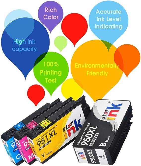Starink - Cartuchos de tinta compatibles con HP 950XL 951XL ...