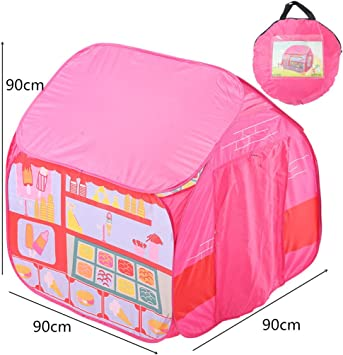 LILICAT Tente Pop-Up Rose Princesse Enfants Pop Up Tente De ...