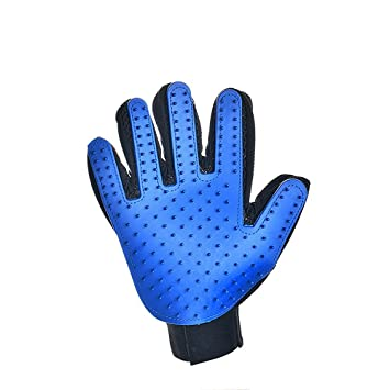 FANTIC Pincel para guantes de aseo para perro, con mango derecho en 1 pieza,