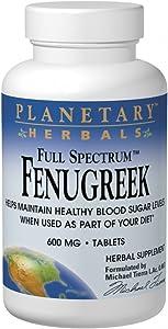 Planetary Herbals Full Spectrum Fenugreek, 600 mg, 120 Tablets,