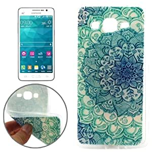 Green Flower Bud Pattern TPU Protective Case for Samsung Galaxy Grand Prime / G5308