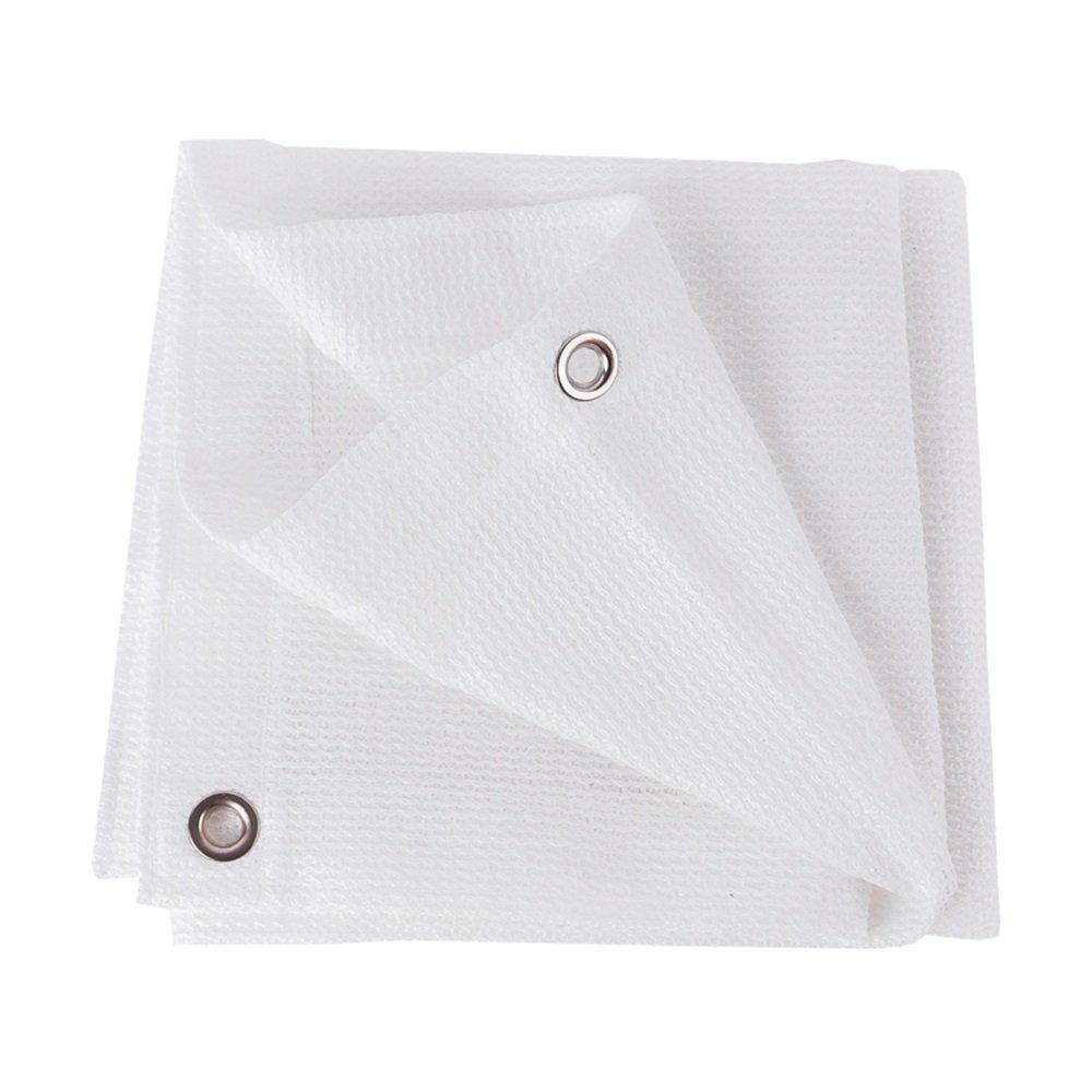 XING ZI tarpaulin X-L-H Weiße 80% Schatten Tuch Weiß 6-Pin-Verschlüsselung Verdickung Garten HDPE Sonnenschutznetz