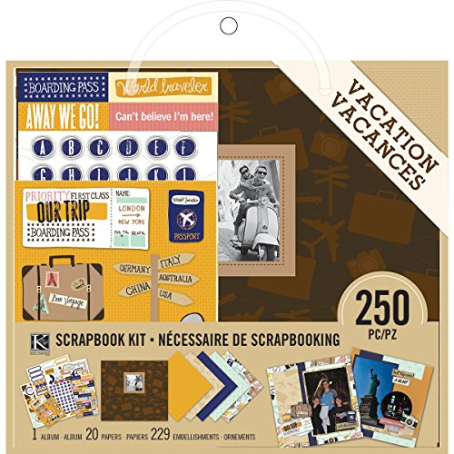 K&Company Scrapbook Kit, 8 by 8-Inch, Vacation