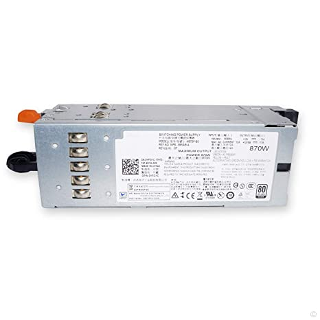 POINWER YFG1C 870W Server Power Supply for Dell PowerEdge R710 T610 for  Dell PowerVault NX3000 DL2100 Compatible Part Number 3257W D263K 7NVX8  VT6G4