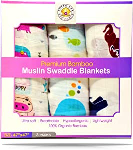 Boffo Usa Baby Swaddle Blanket for Boys and Girls. Organic...