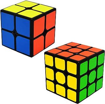 EASEHOME Speed Cubes Magic Puzzle Cube Set 2x2x2 + 3x3x3, 2 Pack Rompecabezas Cubo Mágico PVC Pegatina para Niños y Adultos: Amazon.es: Juguetes y juegos