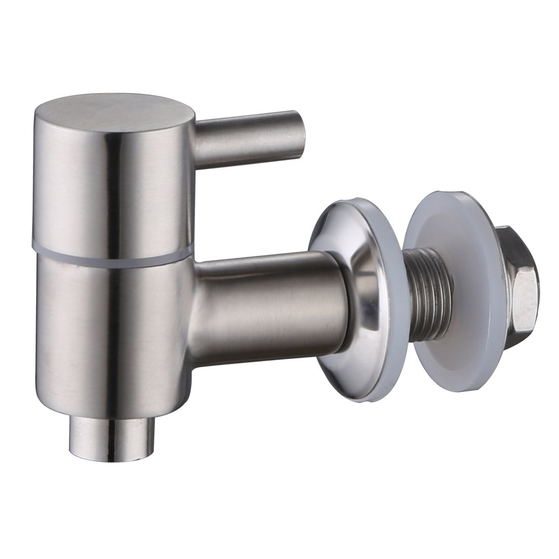 Lyty Stainless Steel Beverage Dispenser Spigot/Faucet/Tap (Brushed Stainless Finish, Ceramic Valve) Fits 5/8 Inch Opening