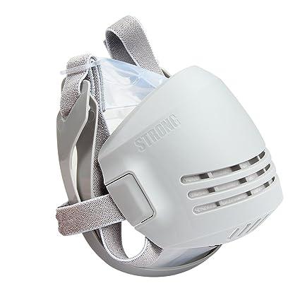 Latinaric Máscara respiratoria reutilizable con filtros de carbón activo,Antipolvo,respirador para protección contra