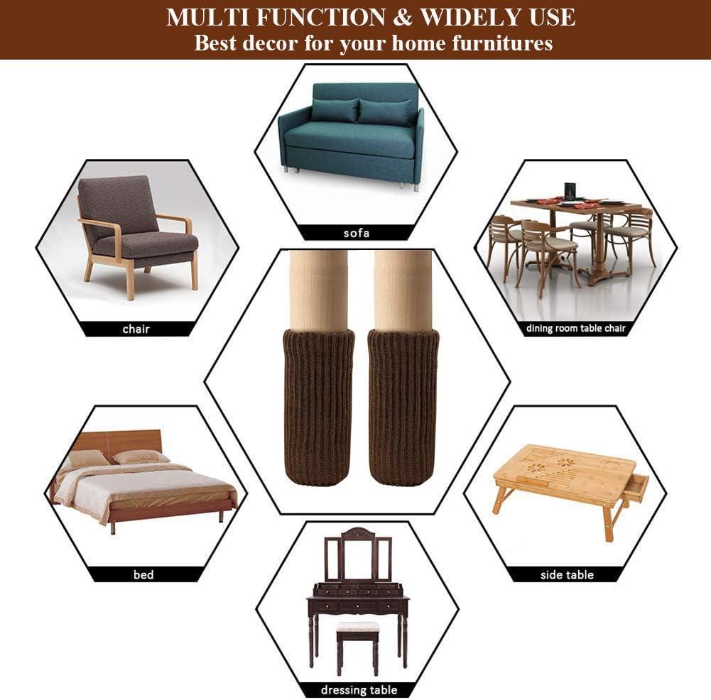 UrsoKuz 24PCS Chair Socks for Hardwood Floors High Elastic Non Slip Chair Leg to