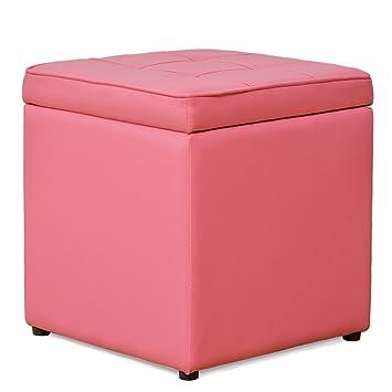 Amazon.com: Footstools YXX- Leather Waterproof Non-slip Storage ...