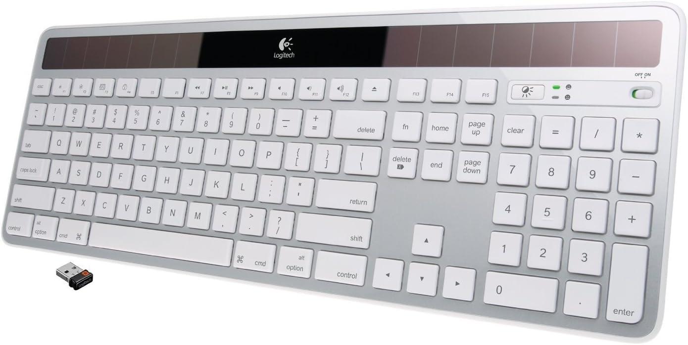 Logitech Wireless Solar Keyboard K750 for Mac - Silver (Renewed)