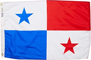product image for Annin Flagmakers Model 196538 Panama Flag Nylon SolarGuard NYL-Glo, 2x3 ft, 100% Made in USA to Official United Nations Design Specifications