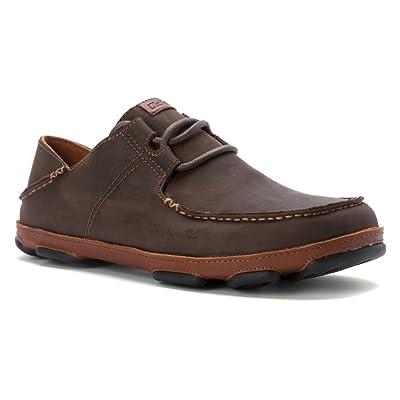 OLUKAI Men's Ohana Lace-up Nubuck Moc Toe Shoe | Shoes