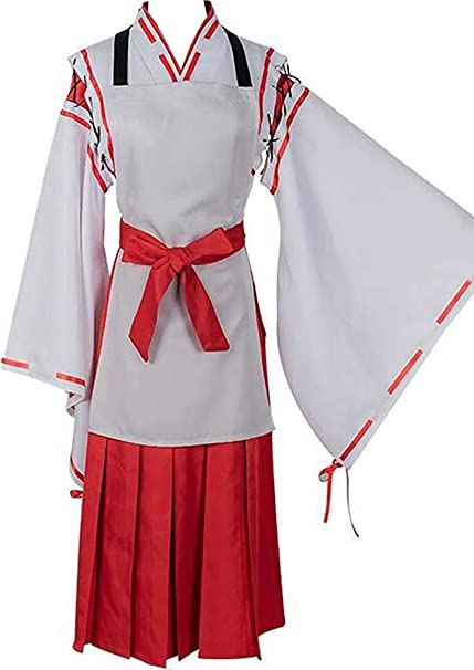Poetic Walk Anime Sewayaki Kitsune no Senko-san Helpful Fox Inuyasha Cosplay Costume Kimono