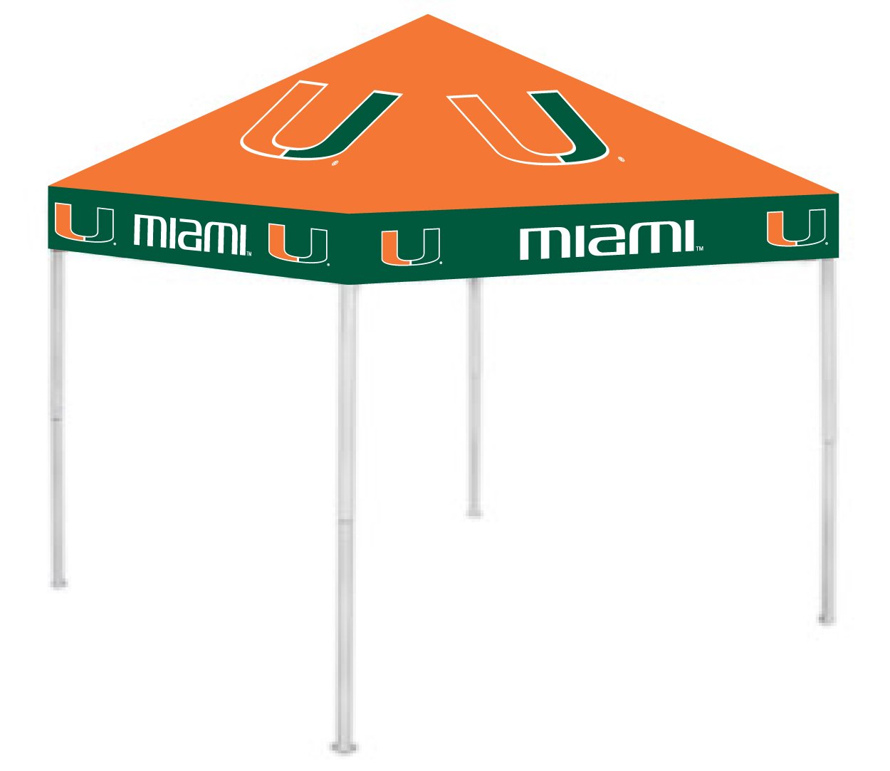 Rivalry RV269-5000 University of Miami Canopy B003HLQSC8 9 x 9|Miami Hurricanes Miami Hurricanes 9 x 9