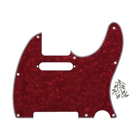 IKN 8 agujeros Pickguard Front Scratch Plate para American/Mexican Standard Fender Teles Estilo Moderno