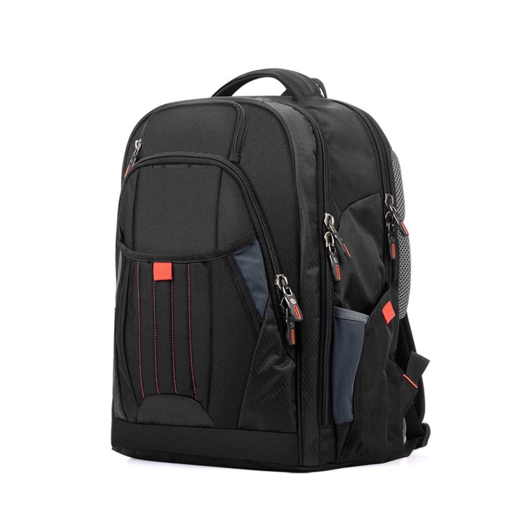HJBH高品質ファブリック素材バックパックビジネスファッションカジュアルショルダーバッグ大容量パッケージサイズ:長さ45CM *幅34CM *厚さ20CM(ブラック)