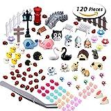 Paxcoo 120 Pcs Fairy Garden Miniature Ornaments Kit for DIY Dollhouse Décor