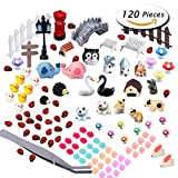 #3: PAXCOO 120 Pcs Fairy Garden Miniature Ornaments Kit for DIY Dollhouse Décor