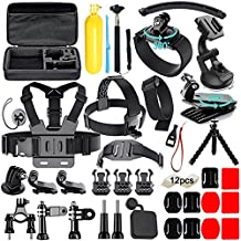 Iextreme 50 in 1 Action Camera Accessories Kit for GoPro Hero 2018 GoPro Hero6 5 4 3 with Carrying Case/Chest Strap/Octopus Tripod