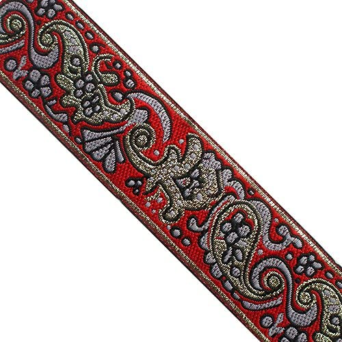 selling by the yard Amazing handmade Woven Jacquard ribbon 1 1//4 inch wide