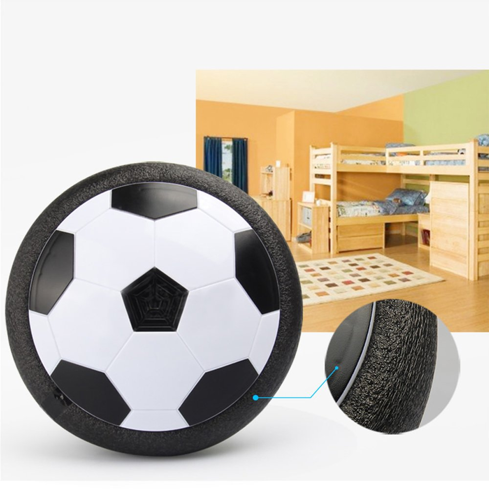 SKYKING Air Powered Hover Soccer Ball with Foam Bumper and Day or Night LED Light Excellent for Indoor Football Training or Outdoor Soccer Games and Perfect Toys for Football Enthusiasts and Kids Adoree