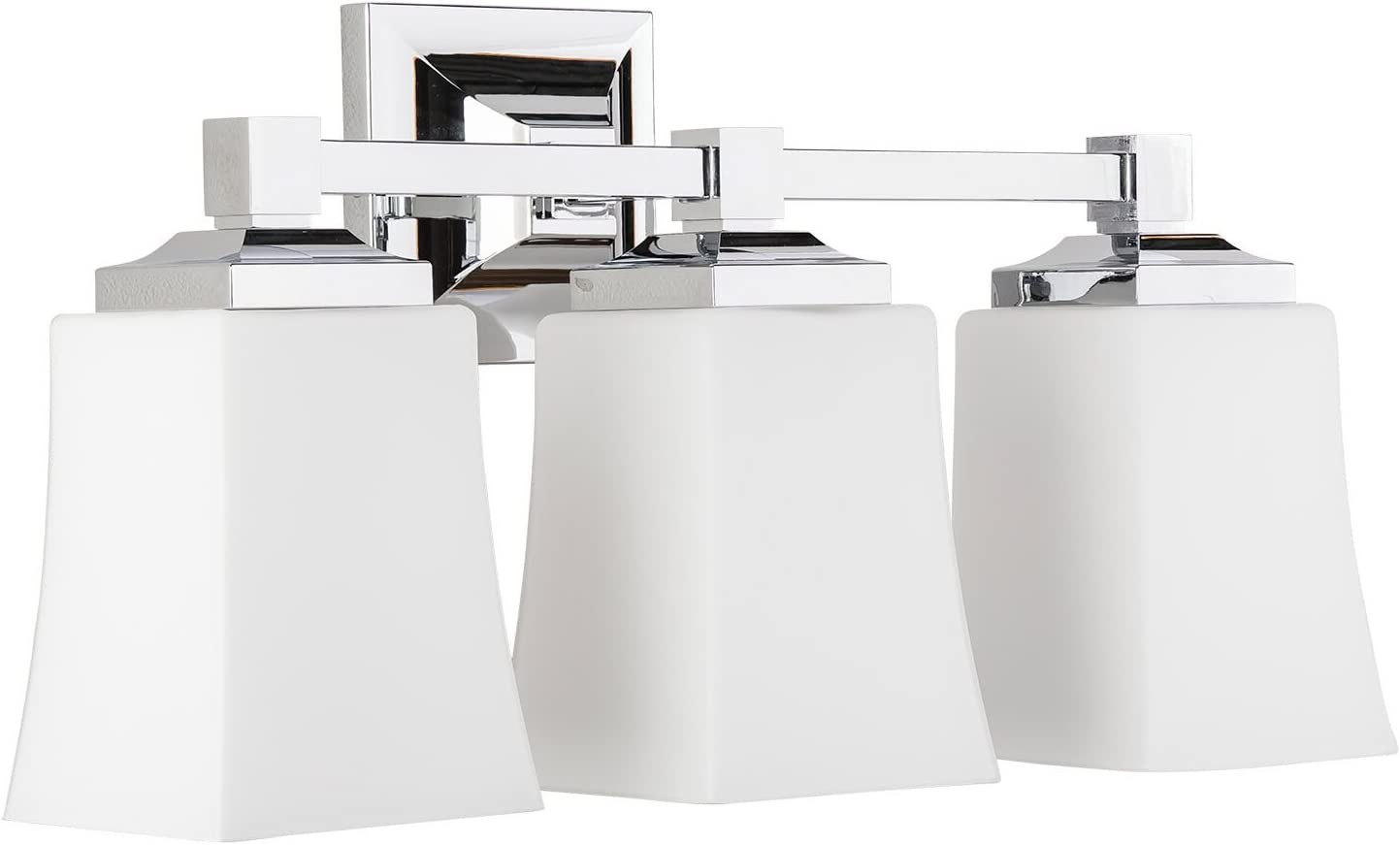 Brighton 3 Light Bathroom Vanity Fixture Chrome w Frosted Glass Linea di Liara LL-WL240-3-PC