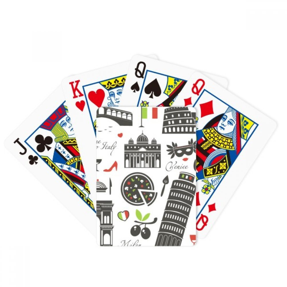 Italy The Leaning Tower of Pisa Roman Theater Poker Playing Cards Tabletop Game Gift