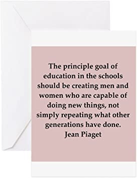 com cafepress jean piaget quotes greeting card note card