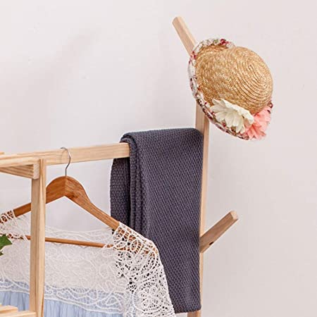 Amazon.com: WYQSZ Simple Clothes Rack Bamboo, Solid Wood ...