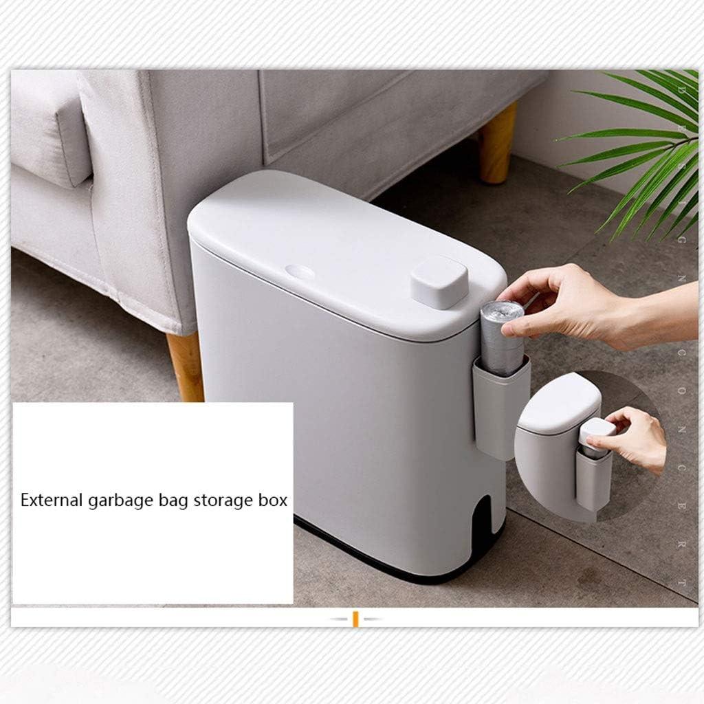 Contenedor de basura 10L pl/ástico estrecho Tipo bote de basura de ba/ño Cubo de basura higi/énico Cubo de basura de la basura Cesta de la basura de la cocina cuba de almacenamiento de contenedores Cubos