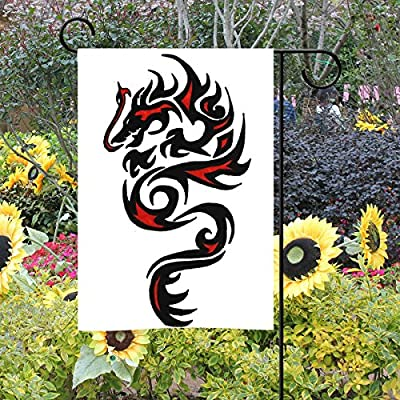deyya Fiery Dragón Largo poliéster banderines de jardín 12 X 18 inch, bienvenida vida decorativa bandera arte para aniversario de boda decoración de la casa jardín al aire libre: Amazon.es: Jardín