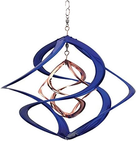 """Red Carpet Studios Kinetic Metal Double Spinner Blue and Gold 17/"""""""