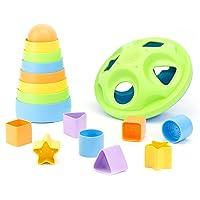 Deals on Green Toys Stacker & Shape Sorter Set