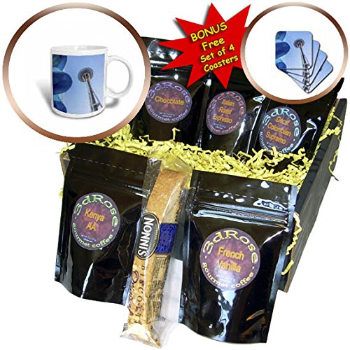 3dRose Boehm Photography Travel - The Space Needle in Downtown Seattle Washington - Coffee Gift Baskets - Coffee Gift Basket (cgb_255249_1)